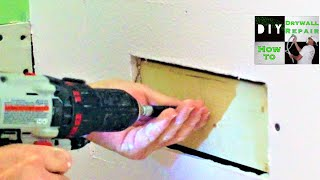 How to attach drywall on a drywall repair when theres no wood?