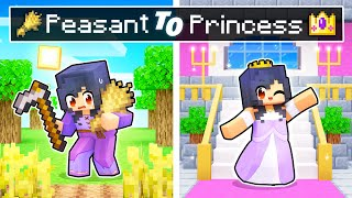 From PEASANT To PRINCESS Story In Minecraft!