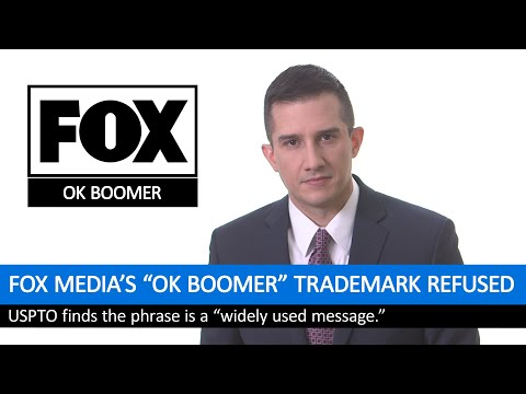 "TIL Fox Media tried to trademark the phrase ""OK Boomer"""