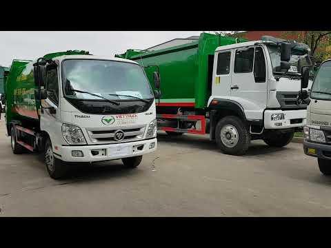 xe ép chở rác 6 khối Thaco ollin 500