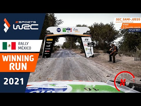 E-sports WRC2021 メキシコ セミ・ジョーのウィニング走行を収めたラリー動画