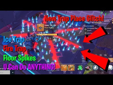 New! Fortnite STW Unlimited traps Place *Glitch*! [NOT PATCHED