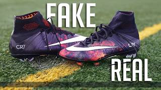 $15 vs $350 Football Boots (Superfly) -  How to Spot Fake Nike Football Boots - dooclip.me