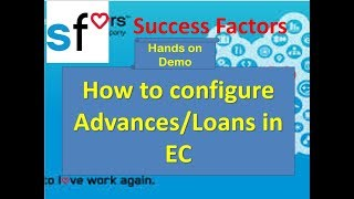 SAP SuccessFactors: How to Configure Advance / Loan in EC