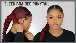 SUPER Sleek Braided Ponytail (Protective Style) | Naturally Sunny
