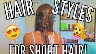 3 Easy Hairstyles for Short + Long Hair!