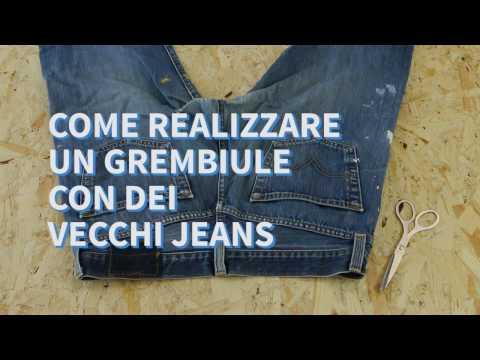 Come realizzare un grembiule da lavoro usando un paio di jeans - ManoMano IT
