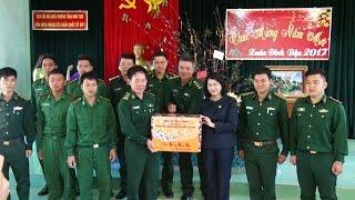 Phó Chủ tịch nước Đặng Thị Ngọc Thịnh thăm, chúc Tết quân dân biên giới tỉnh Kon Tum