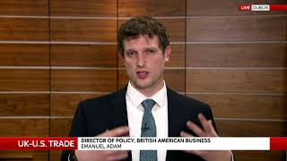 BAB Policy & Trade Director Emanuel Adam featured on Sky News to speak about US-UK Trade Relatio