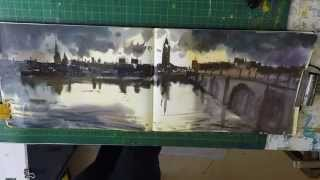 How to Paint Big Ben ,Houses of Parliament London