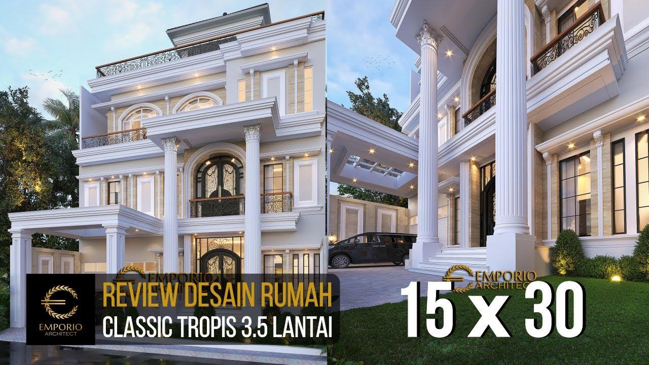 Video 3D Desain Rumah Classic 3.5 Lantai Ibu Tyas - Jakarta Selatan