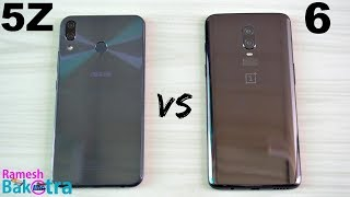 Asus Zenfone 5z vs Oneplus 6 SpeedTest and Camera Comparison