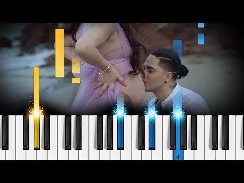 Kim Loaiza - Amándote (ft JD Pantoja) - Piano Tutorial - Como tocar