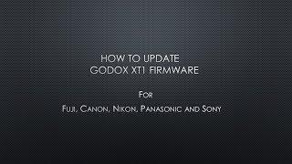 How to update Godox X1T wireless trigger firmware