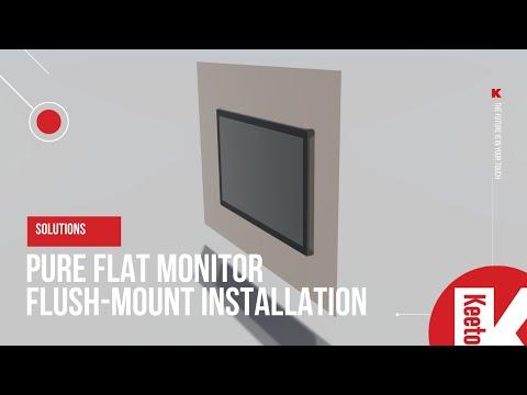 Keetouch GmbH Pure Flat touchscreen monitor flush-mount installation demo