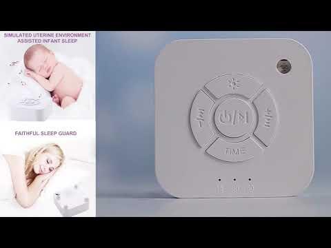 Генератор белого шума с аккумулятором / usb-зарядкой и 9 видами естественных звуков для сна White Noise Machine (WM-21022) Video #1