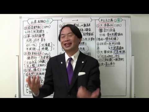 竹内の日本史 戦略図解ボード #055 初期議会と日清戦争