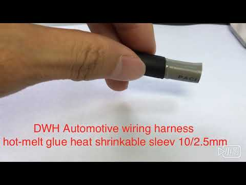 DWH Automotive wiring harness hot-melt glue heat shrinkable sleev 10/2.5mm