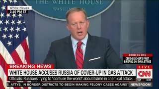 "Spicer ""clarifying"" Hitler chemical weapon remarks"