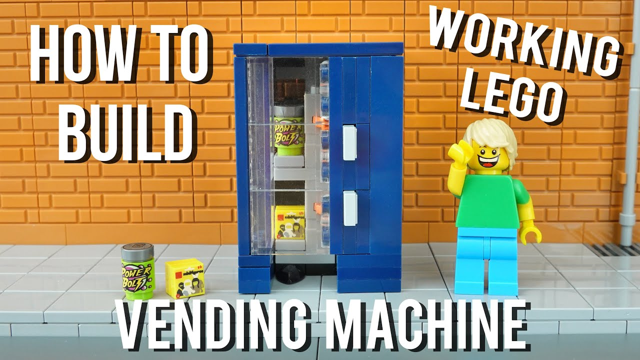 How To Build A Working Lego Vending Machine - Drinks & Snacks!