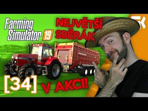 NEJVĚTŠÍ SBĚRÁK V AKCI! | Farming Simulator 19 #34