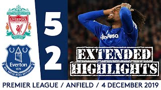 EXTENDED HIGHLIGHTS: LIVERPOOL 5-2 EVERTON