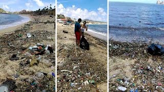 Tons Of Trash Spotted Washed Up On Mexican Coastline