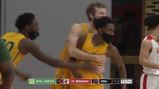Boys' basketball highlights: New London 47, St. Bernard 44