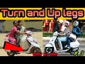 Ride on Scooter, how to turn and Up legs on scooty easy ways,