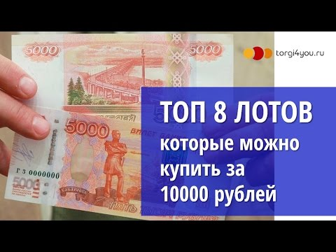 Топ 8 лотов за 10000 рублей на торгах по банкротству