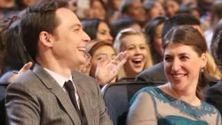 Jim Parsons and Mayim Bialik (Sheldon and Amy)