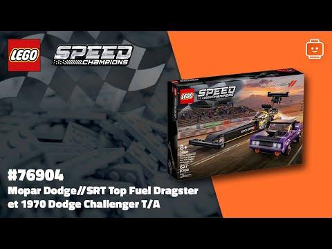 Vidéo LEGO Speed Champions 76904 : Mopar Dodge//SRT Top Fuel Dragster et 1970 Dodge Challenger T/A