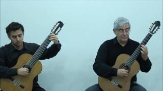 Brasilis Guitar Duo play Toccata and Fugue, BWV 565 (J. S. Bach)
