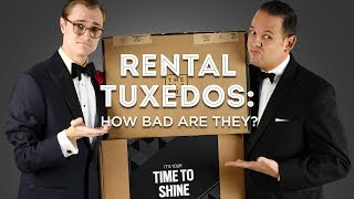 Rental Tuxedos: How Bad Are They? - Honest Reviews Of Mens Wearhouse, The Black Tux BLK, Menguin