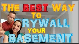 How To Hang Drywall On Basement Ceilings - Best Sheetrock Installing Method ( Apartment 10of14)