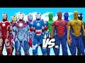 Download Video SPIDER-MAN, BLUE SPIDERMAN, GREEN SPIDERMAN, YELLOW SPIDERMAN, BLACK SPIDERMAN VS IRON MAN ARMY