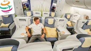 China Southern Airlines Business Class A380 PEK-AMS   GlobalTraveler.TV