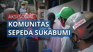 Komunitas Sepeda di Sukabumi Lakukan Aksi Sosial, Bagi Masker dan Semprot Disinfektan