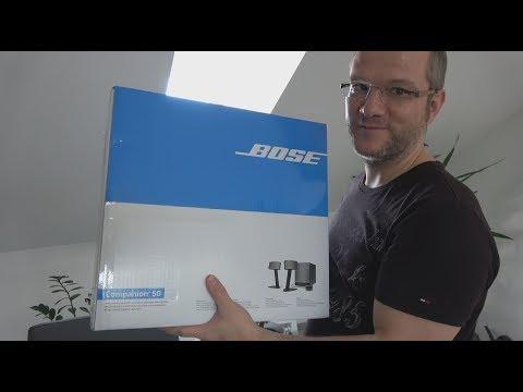 Unboxing und Ersteindruck Bose Companion 50 - PC Multimedia speaker Lautsprecher - Sound System 4K