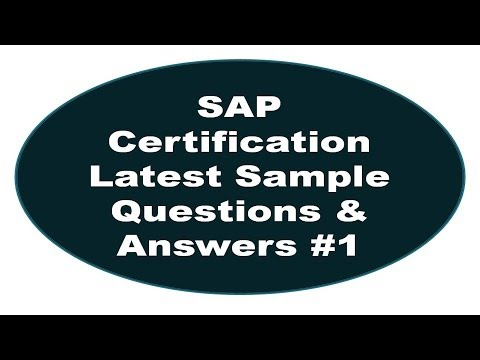 SAP Certification Latest Sample Questions And Answers #1 - YouTube