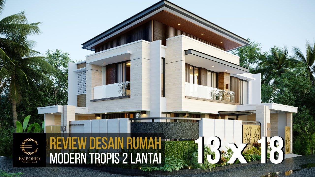 Video 3D Mr. Danny Modern House 2 Floors Design - Malang, Jawa Timur