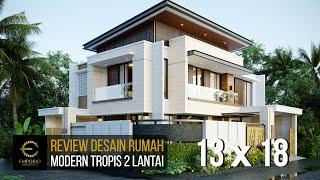 Video Desain Rumah Modern 2 Lantai Bapak Danny di  Malang, Jawa Timur