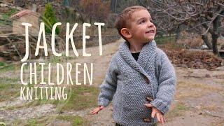 Tutorial Easy Knitting Children Jacket