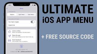 Ultimate iOS Menu Template. Dark Mode, Ratings, Share Sheet, Email & More! + Free Code