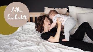Familienbett mit Baby: Zu dritt auf 240cm schlafen