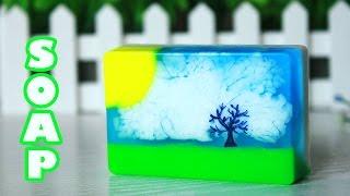 DIY: Мыло со свирлами ● Делаем красивые облака ● Мастер-класс ● Soap making