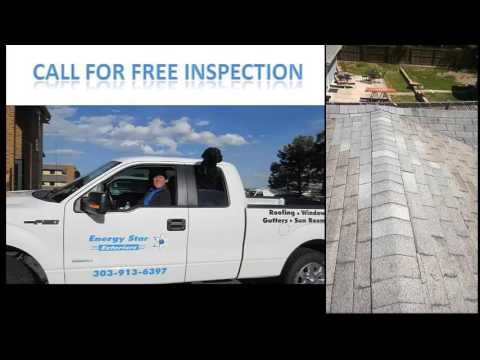 Roof repair in Englewood, Colorado by Energy Star Exteriors. Call us for roof repairs, windows, gutters, and even siding as a result of any storm damages.