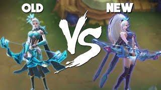 Mobile Legends Miya Remake vs Original Skin (New vs Old)