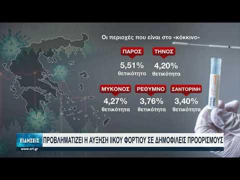 Κορονοϊός:Αυξάνεται το ποσοστό θετικότητας σε νησιωτικούς τουριστικούς προορισμούς   29/7/2021   ΕΡΤ