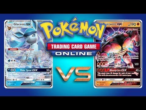 Glaceon GX / Zoroark GX vs Buzzwole GX / Lycanroc GX – Pokemon TCG Online Game Play